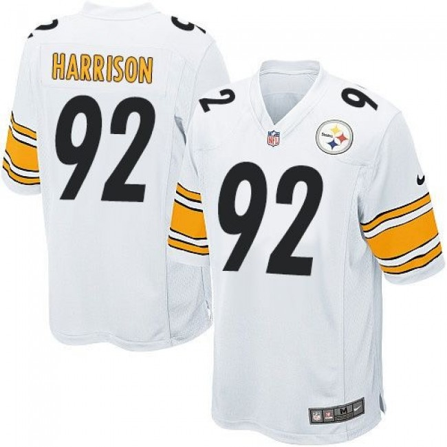 Pittsburgh Steelers #92 James Harrison White Youth Stitched NFL Elite Jersey