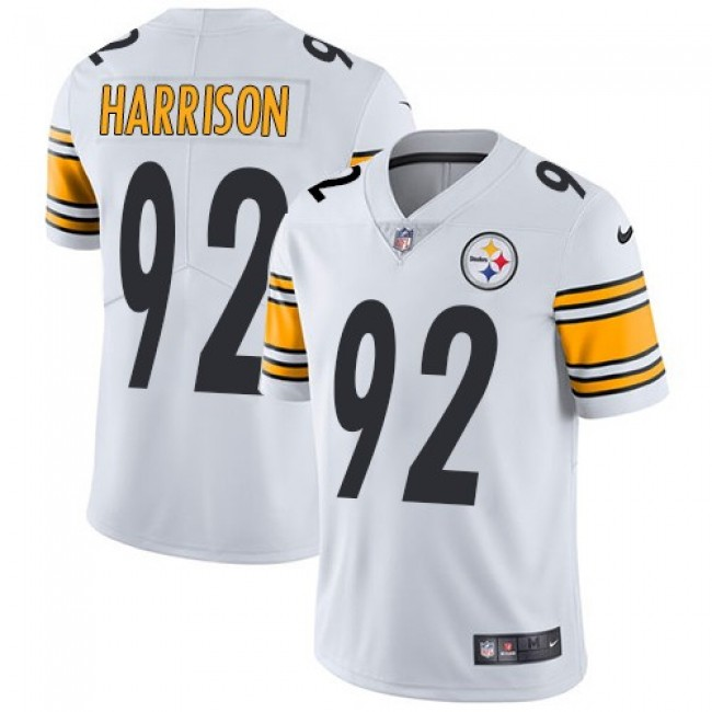 Pittsburgh Steelers #92 James Harrison White Youth Stitched NFL Vapor Untouchable Limited Jersey