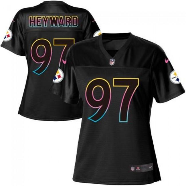 Women's Steelers #97 Cameron Heyward Black NFL Game Jersey