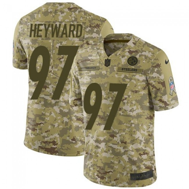 Nike Steelers #97 Cameron Heyward Camo Men's Stitched NFL Limited 2018 Salute To Service Jersey