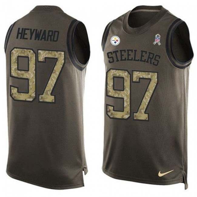 Nike Steelers #97 Cameron Heyward Green Men's Stitched NFL Limited Salute To Service Tank Top Jersey