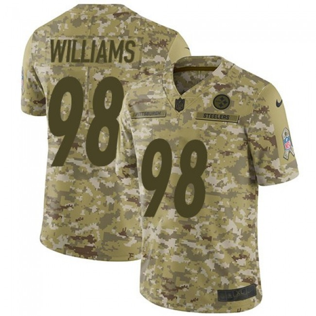 Nike Steelers #98 Vince Williams Camo Men's Stitched NFL Limited 2018 Salute To Service Jersey