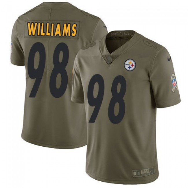 Pittsburgh Steelers #98 Vince Williams Olive Youth Stitched NFL Limited 2017 Salute to Service Jersey