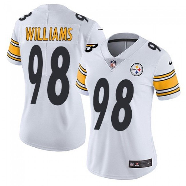 Women's Steelers #98 Vince Williams White Stitched NFL Vapor Untouchable Limited Jersey