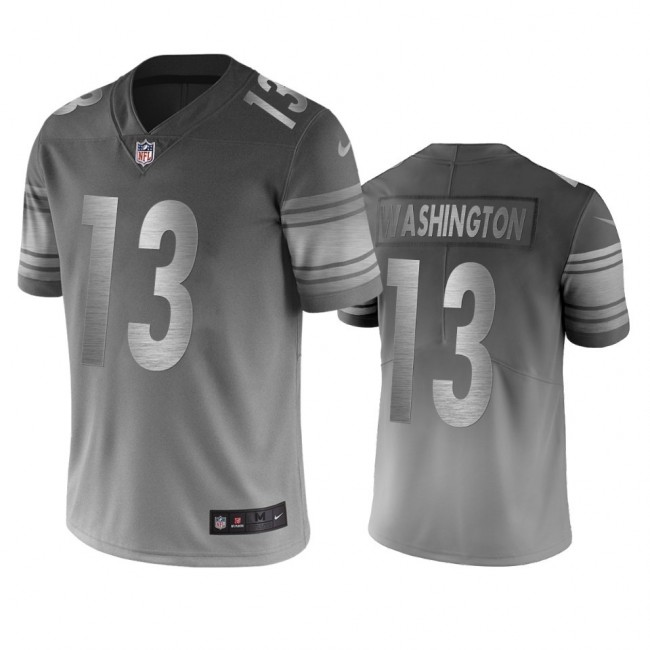 Pittsburgh Steelers #13 James Washington Silver Gray Vapor Limited City Edition NFL Jersey
