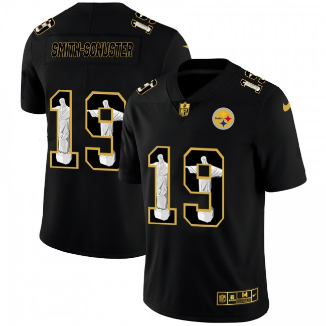 Pittsburgh Steelers #19 JuJu Smith-Schuster Nike Carbon Black Vapor Cristo Redentor Limited NFL Jersey