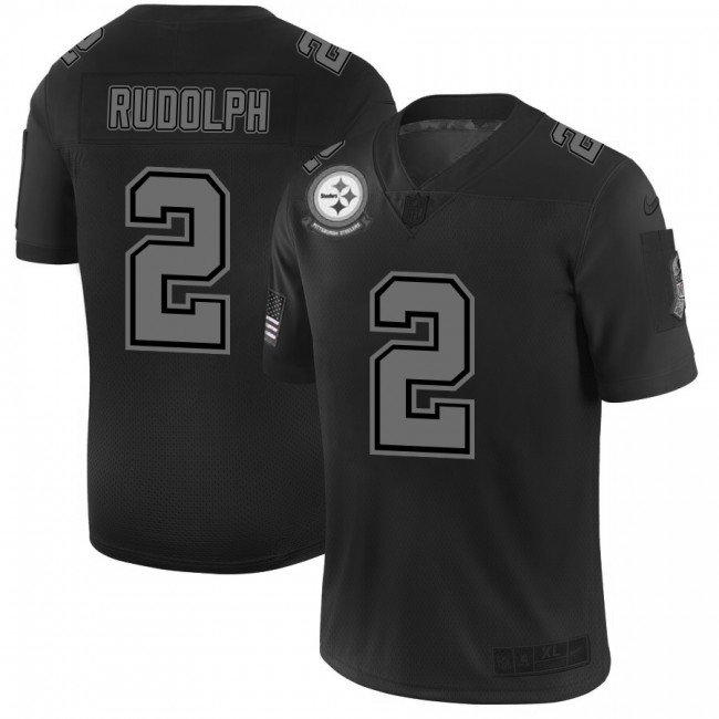 Pittsburgh Steelers #2 Mason Rudolph Men's Nike Black 2019 Salute to Service Limited Stitched NFL Jersey