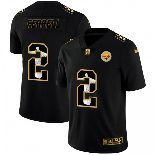 Pittsburgh Steelers #2 Mason Rudolph Nike Carbon Black Vapor Cristo Redentor Limited NFL Jersey