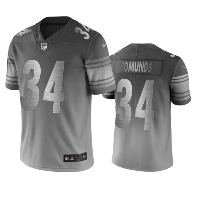 Pittsburgh Steelers #34 Terrell Edmunds Silver Gray Vapor Limited City Edition NFL Jersey
