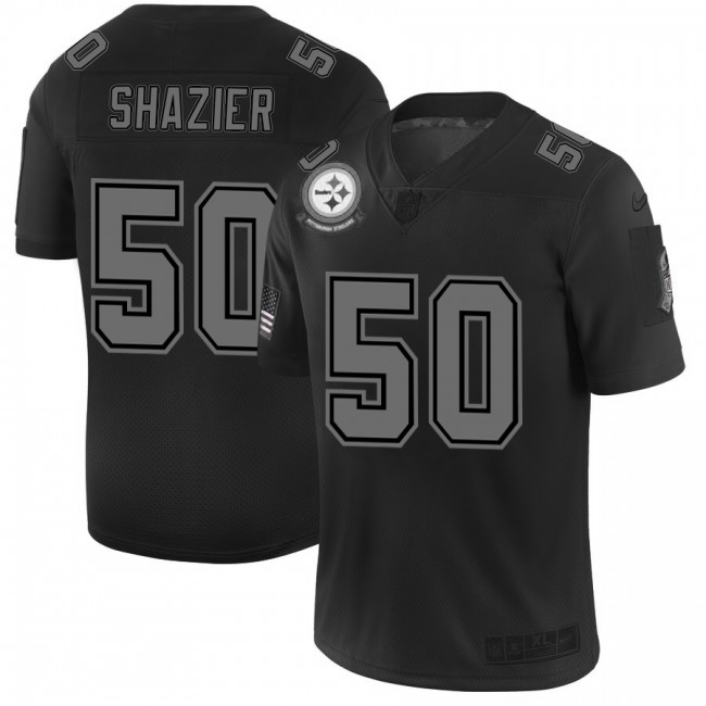 Pittsburgh Steelers #50 Ryan Shazier Men's Nike Black 2019 Salute to Service Limited Stitched NFL Jersey