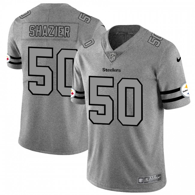 Pittsburgh Steelers #50 Ryan Shazier Men's Nike Gray Gridiron II Vapor Untouchable Limited NFL Jersey