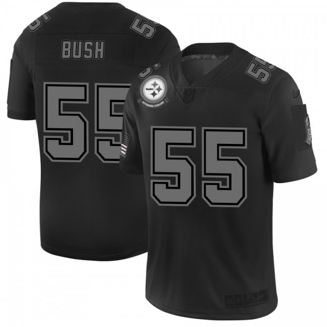Pittsburgh Steelers #55 Devin Bush Men's Nike Black 2019 Salute to Service Limited Stitched NFL Jersey