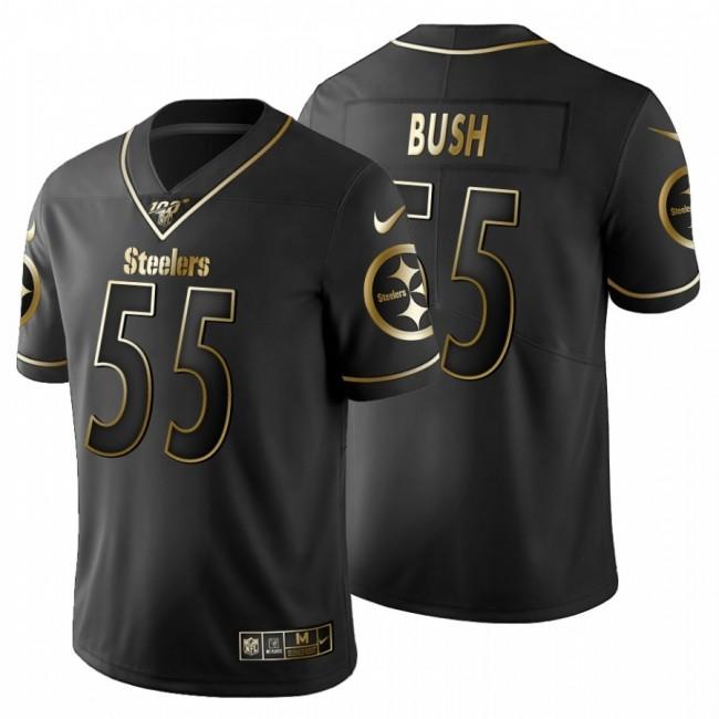 Pittsburgh Steelers #55 Devin Bush Men's Nike Black Golden Limited NFL 100 Jersey