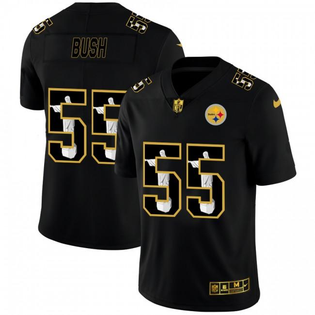 Pittsburgh Steelers #55 Devin Bush Nike Carbon Black Vapor Cristo Redentor Limited NFL Jersey