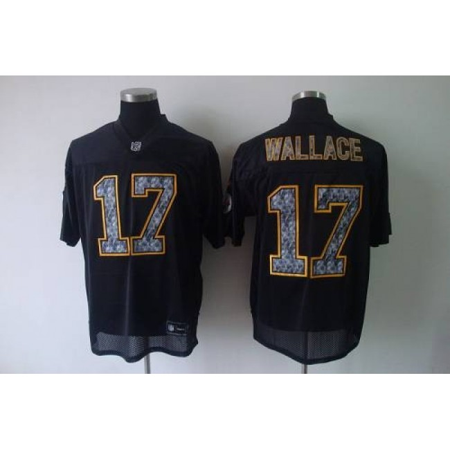 Sideline Black United Steelers #17 Mike Wallace Black Stitched NFL Jersey
