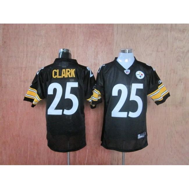 Steelers #25 Ryan Clark Black Stitched Throwback NFL Jersey