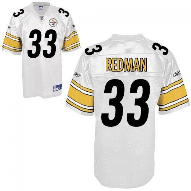 Steelers #33 Isaac Redman White Stitched NFL Jersey