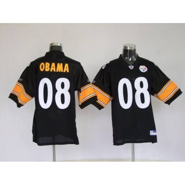 Steelers #8 President Obama Stitched NFL Jersey