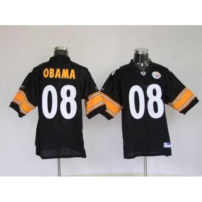 Steelers #8 President Obama Stitched NFL Jersey