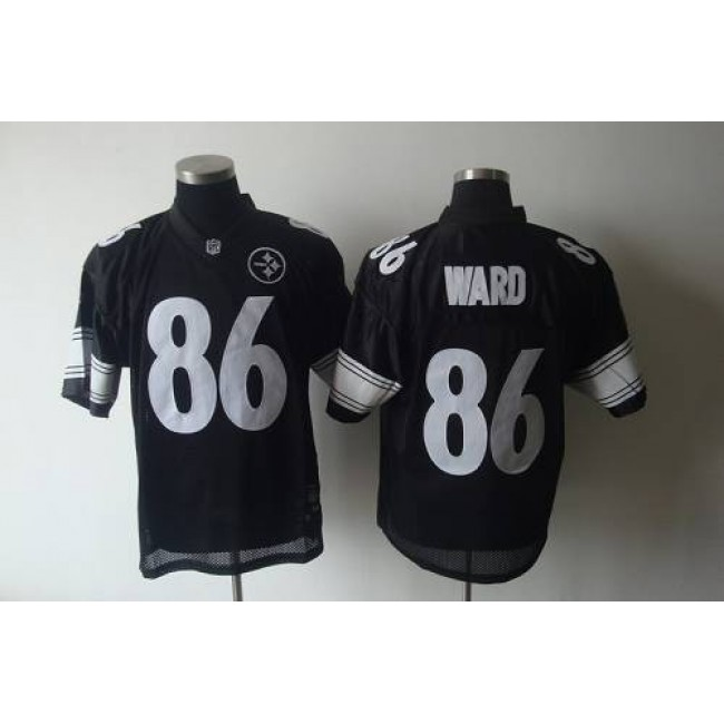 Steelers #86 Hines Ward Black Shadow Stitched NFL Jersey