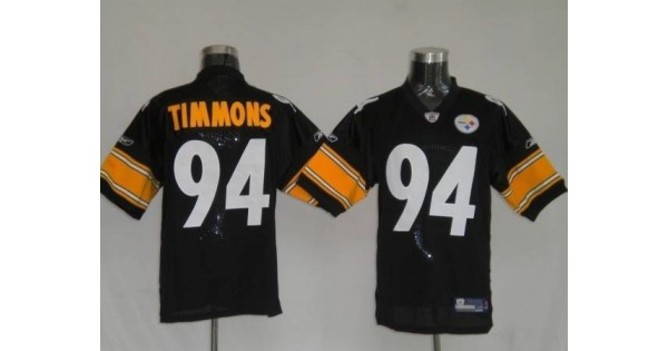 NFL Jersey tag-Steelers #94 Lawrence Timmons Black Stitched NFL ...