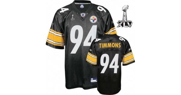 NFL Jersey font-Steelers #94 Lawrence Timmons Black Super Bowl XLV ...