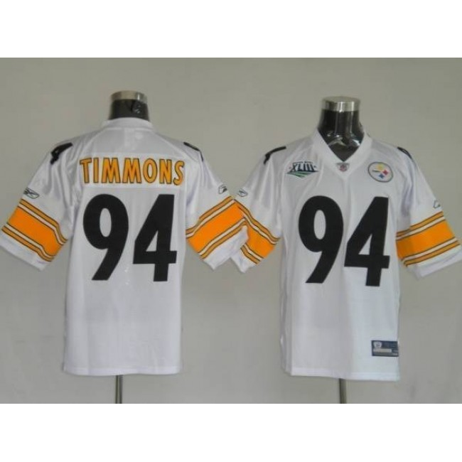Steelers #94 Lawrence Timmons White Stitched NFL Jersey