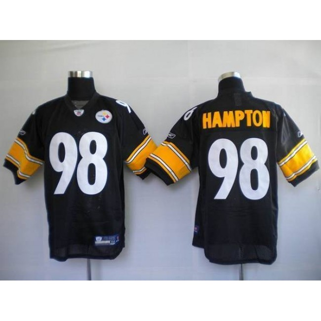 Steelers #98 Casey Hampton Black Stitched NFL Jersey
