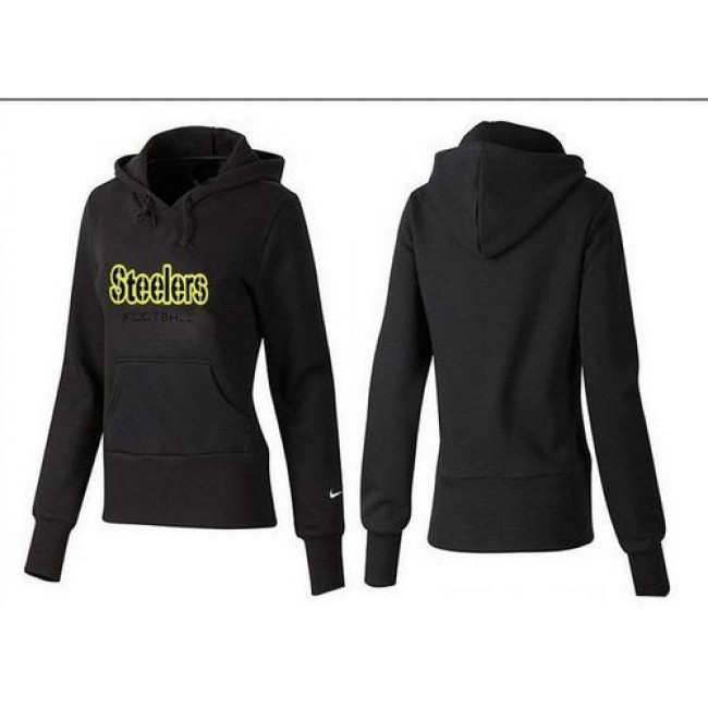Women's Pittsburgh Steelers Authentic Logo Pullover Hoodie Black Jersey