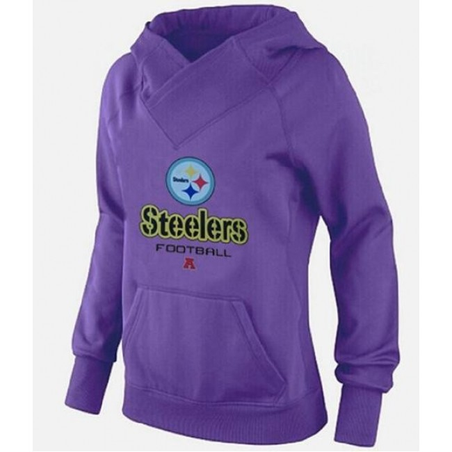 Women's Pittsburgh Steelers Big Tall Critical Victory Pullover Hoodie purple Jersey
