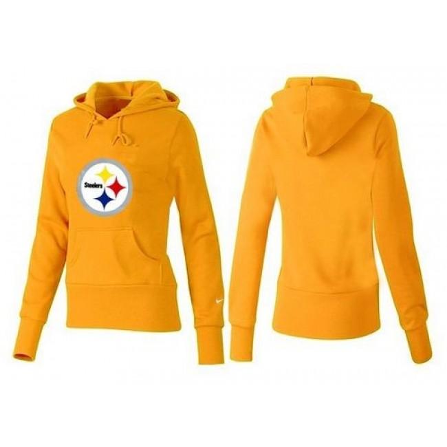Women's Pittsburgh Steelers Logo Pullover Hoodie Yellow Jersey