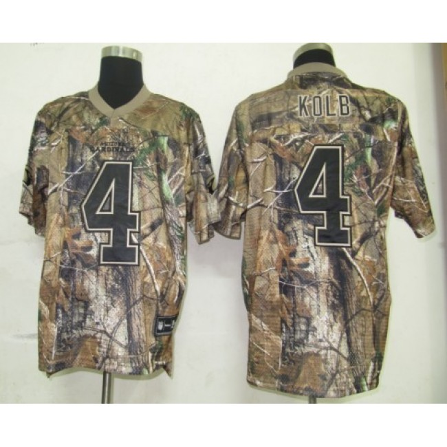 Cardinals #4 Kevin Kolb Camouflage Realtree Embroidered NFL Jersey