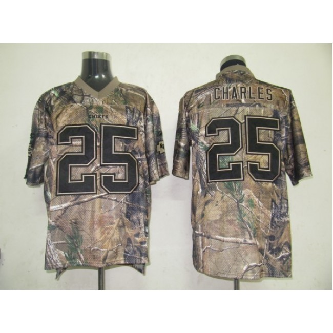 Chiefs #25 Jamaal Charles Camouflage Realtree Embroidered NFL Jersey