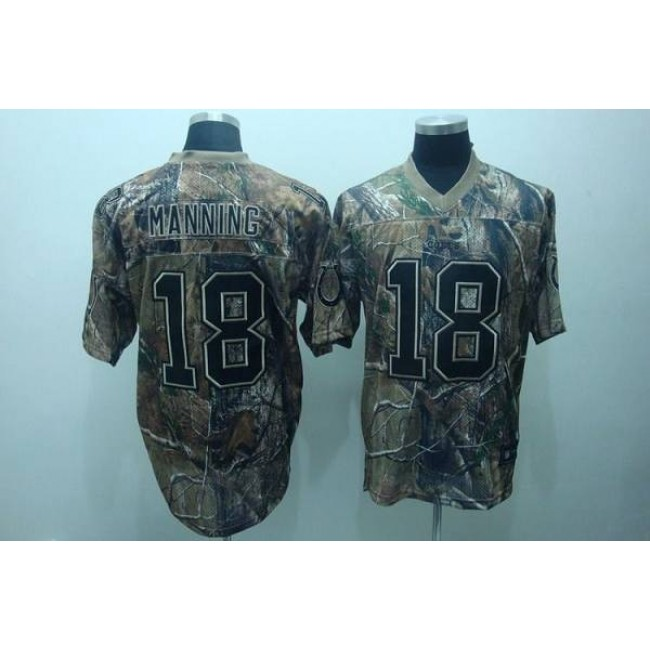 Colts #18 Peyton Manning Camouflage Realtree Embroidered NFL Jersey