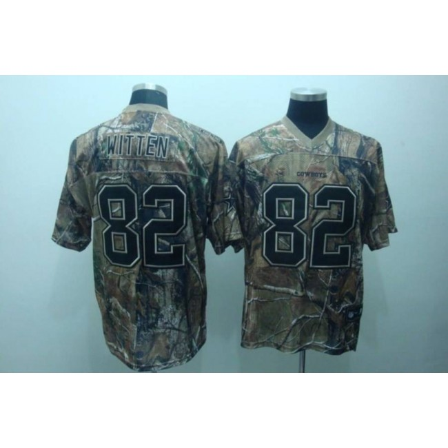 Cowboys #82 Jason Witten Camouflage Realtree Embroidered NFL Jersey