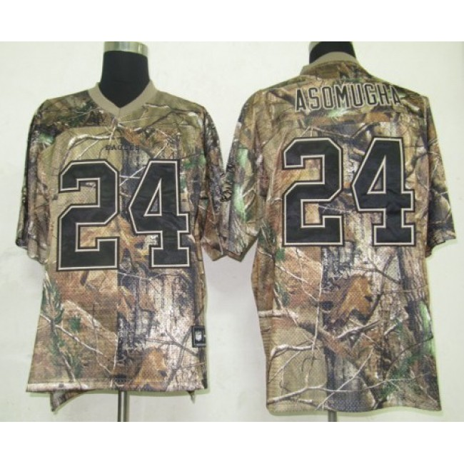Eagles #24 Nnamdi Asomugha Camouflage Realtree Embroidered NFL Jersey