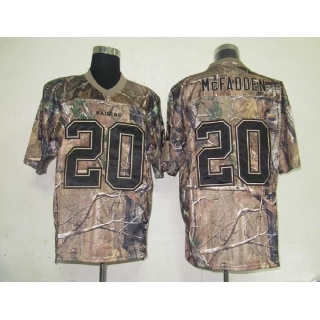 Raiders #20 Darren McFadden Camouflage Realtree Embroidered NFL Jersey