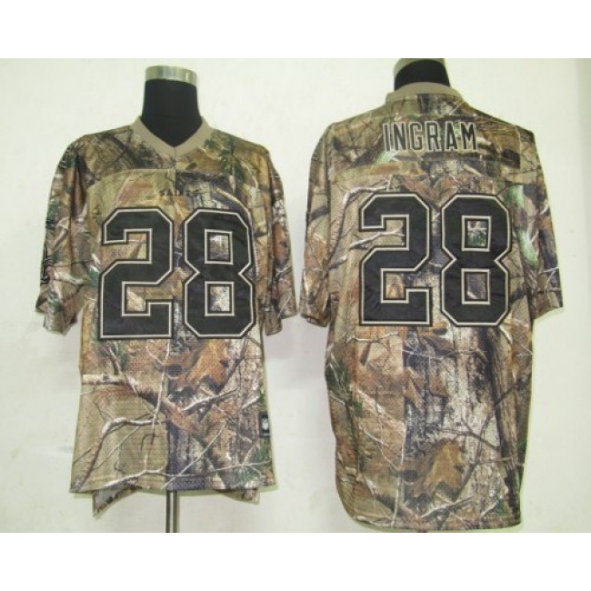 Saints #28 Mark Ingram Camouflage Realtree Embroidered NFL Jersey