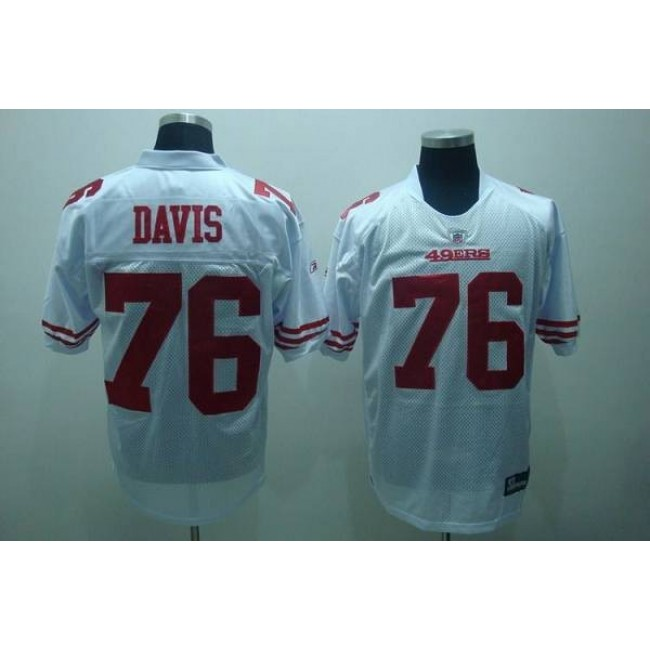 49ers #76 Anthony Davis White Stitched NFL Jersey