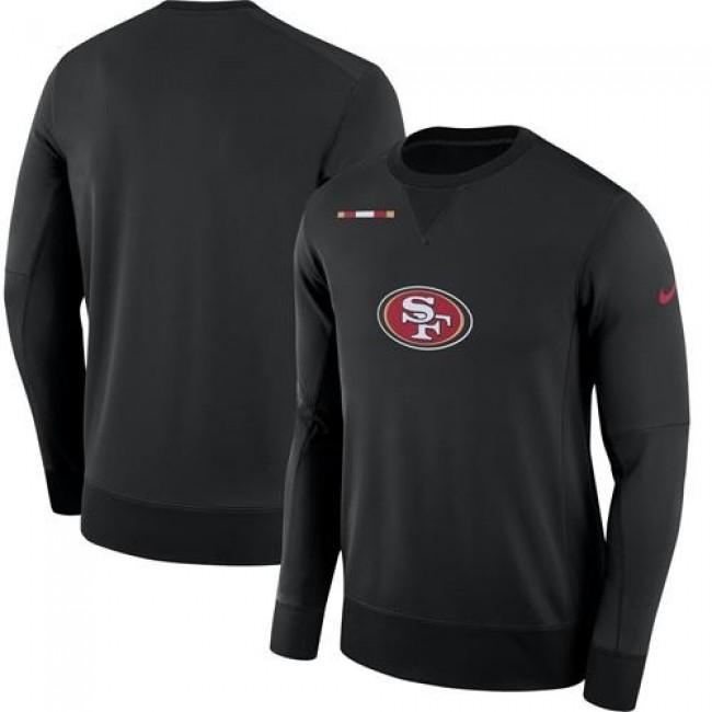 Men's San Francisco 49ers Nike Black Sideline Team Logo Performance Sweatshirt
