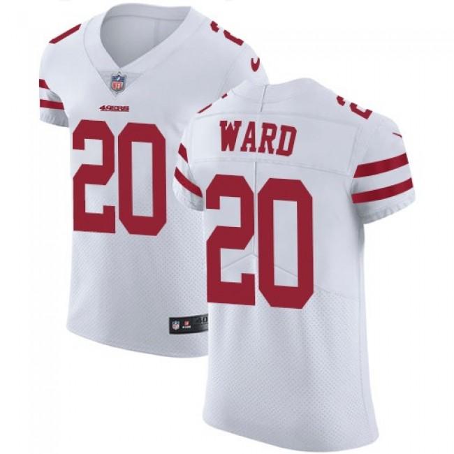 Nike 49ers #20 Jimmie Ward White Men's Stitched NFL Vapor Untouchable Elite Jersey