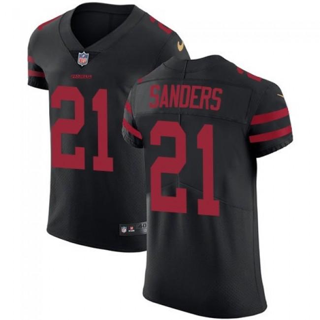 Nike 49ers #21 Deion Sanders Black Alternate Men's Stitched NFL Vapor Untouchable Elite Jersey