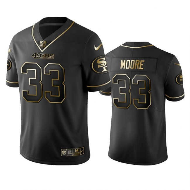 Nike 49ers #33 Tarvarius Moore Black Golden Limited Edition Stitched NFL Jersey