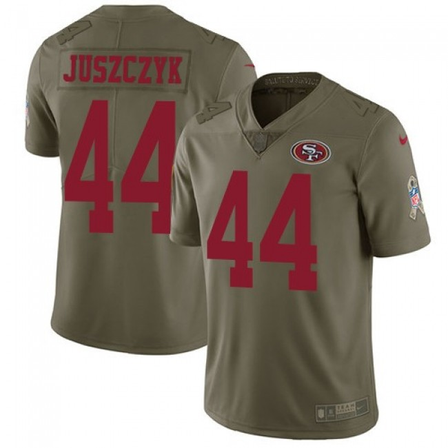 San Francisco 49ers #44 Kyle Juszczyk Olive Youth Stitched NFL Limited 2017 Salute to Service Jersey