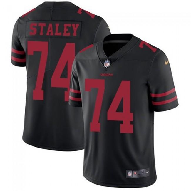 Nike 49ers #74 Joe Staley Black Alternate Men's Stitched NFL Vapor Untouchable Limited Jersey