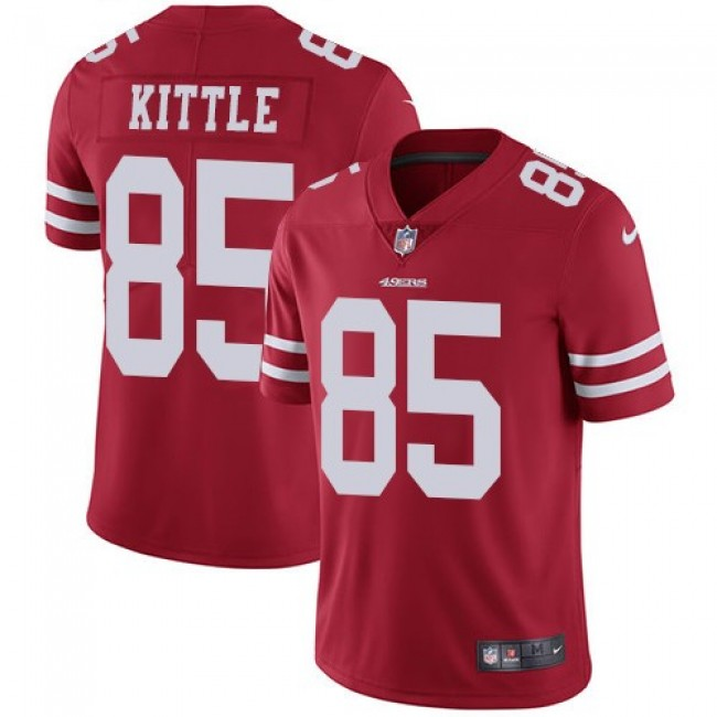 San Francisco 49ers #85 George Kittle Red Team Color Youth Stitched NFL Vapor Untouchable Limited Jersey