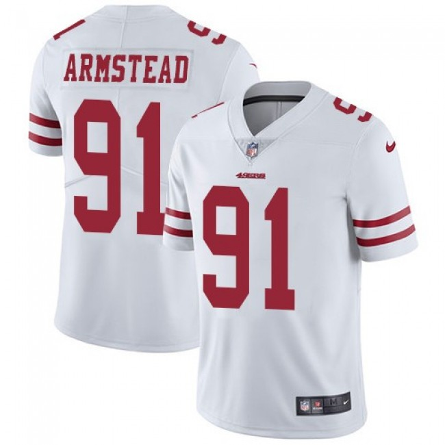 Nike 49ers #91 Arik Armstead White Men's Stitched NFL Vapor Untouchable Limited Jersey