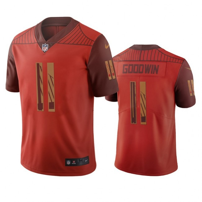 San Francisco 49ers #11 Marquise Goodwin Orange Vapor Limited City Edition NFL Jersey