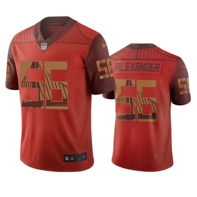 San Francisco 49ers #56 Kwon Alexander Orange Vapor Limited City Edition NFL Jersey