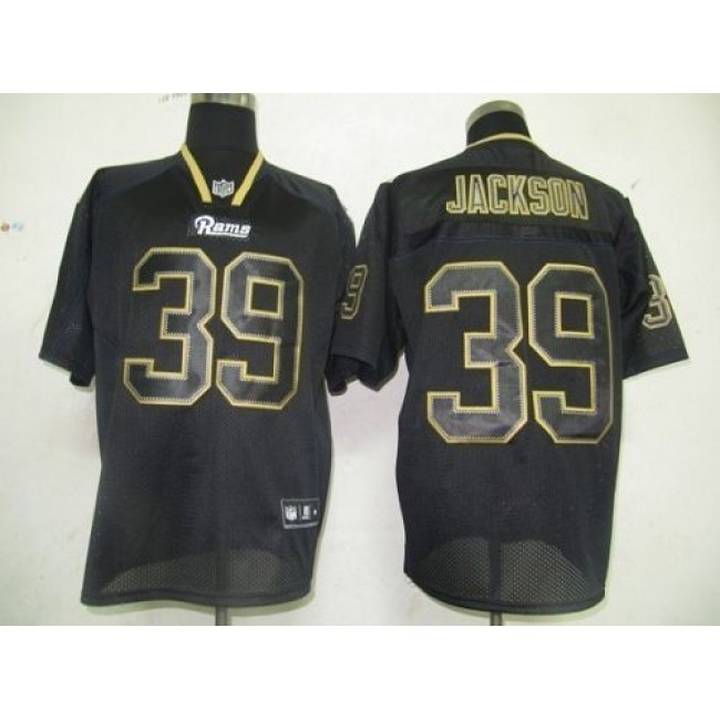 Rams #39 Rickey Jackson Lights Out Black Stitched NFL Jersey